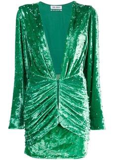 Attico stud detail textured dress