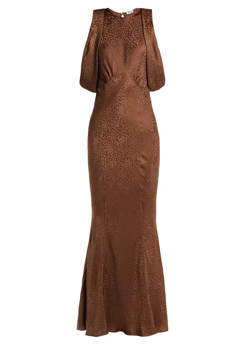 Attico Cheetah-jacquard silk dress