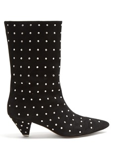 Attico Crystal-embellished calf-length boots