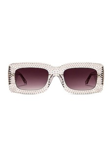 ATTICO Crystal Rectangular Sunglasses
