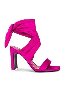 ATTICO Satin Lace Up Sandal