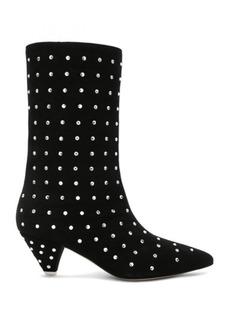 ATTICO Swarovski Embellished Suede Sofia Boots