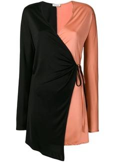 Attico bicolour wrap dress
