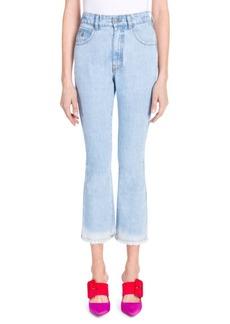 Attico Cropped Flare Jeans