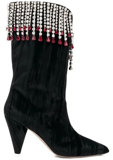 Attico crystal embellished boots