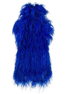 Attico feather mini dress