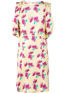Attico floral polka dot dress