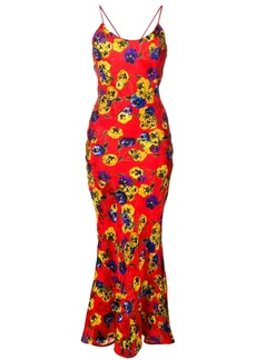 Attico floral print long dress