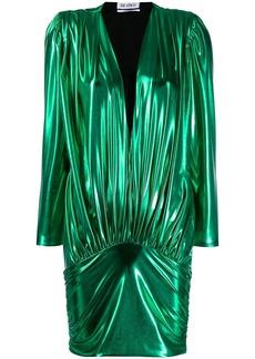 Attico laminated mini dress