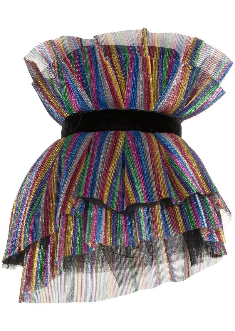 Attico layered pleat top