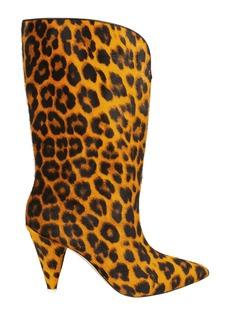 Attico Leopard Calf Hair Boots