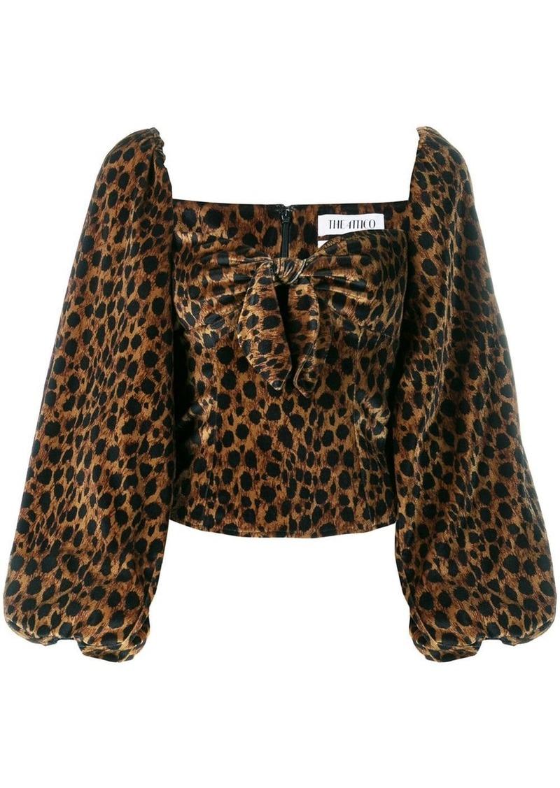 Attico leopard print blouse