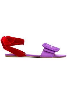 Attico open toe buckle sandals
