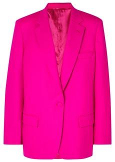 Attico Oversized Wool-blend Gabardine Blazer