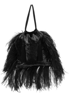 Attico party feathered bag