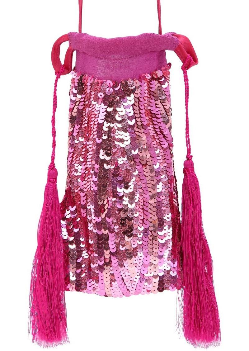 Attico Sequin Phone Case Mini Shoulder Bag