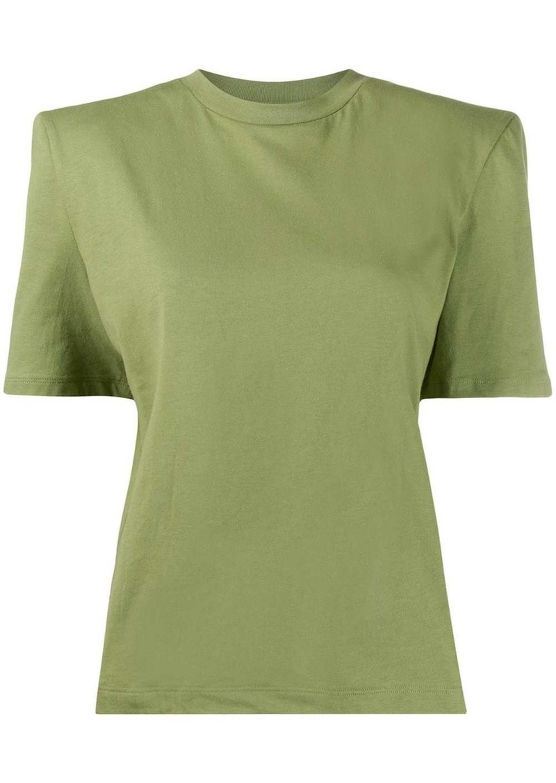 Attico short sleeve structured shoulders T-shirt