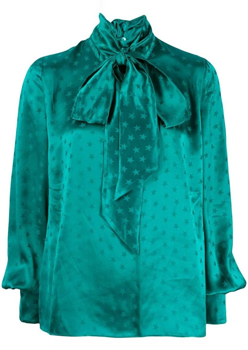 Attico star print satin blouse