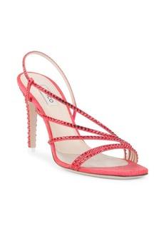 Attico Strappy Crystal Sandals