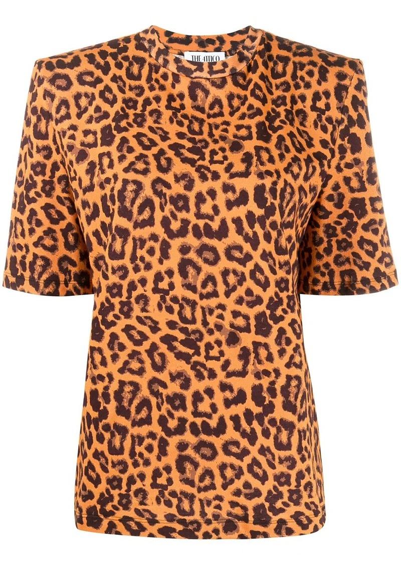 Attico structured leopard print T-shirt