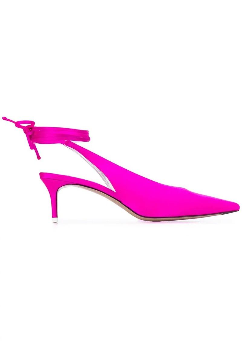 Attico tie ankle pumps