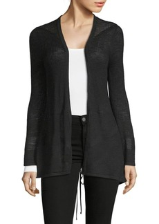 August Silk Lace-Up Back Cardigan