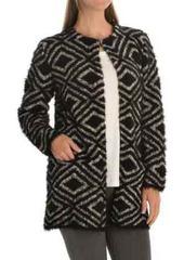 August Silk Printed Faux-Fur Cardigan Coat (For Women)