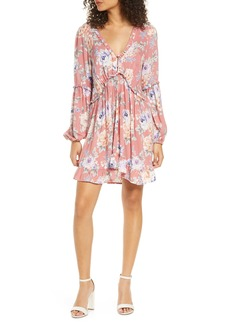 Auguste Pascal Dunes Floral Long Sleeve Minidress