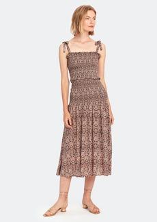 Auguste Montague Bennett Shirred Midi Dress - L - Also in: XS, M, XL, S