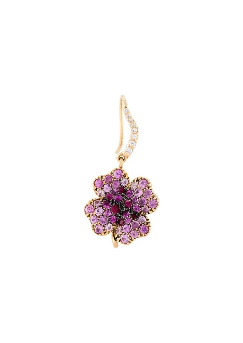 Aurelie Bidermann 18kt gold Clover sapphire earring