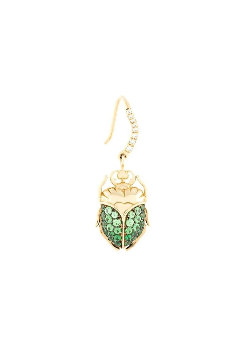Aurelie Bidermann 18kt gold Scarab tsavorite and diamond earring