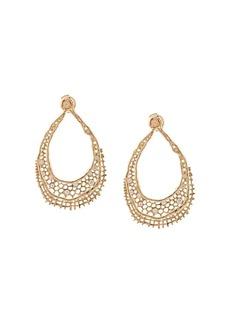 Aurelie Bidermann 18kt yellow gold & diamond lace earrings