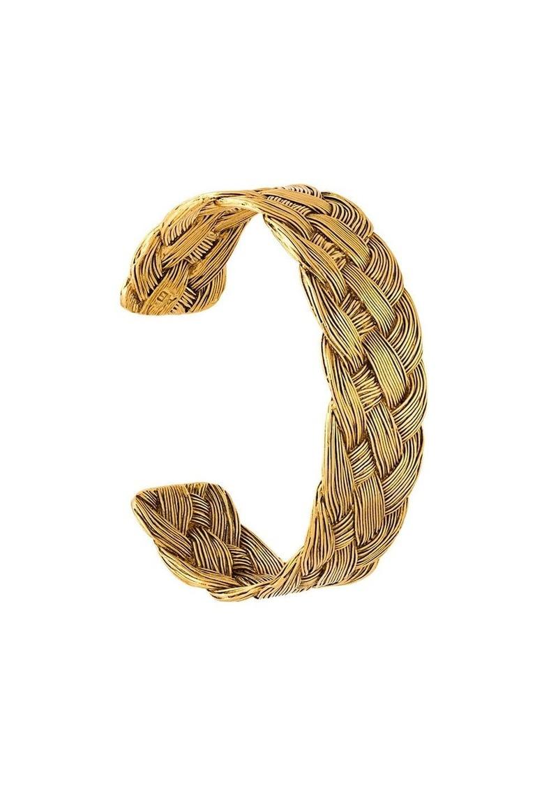 Aurelie Bidermann 'Braided' open bracelet