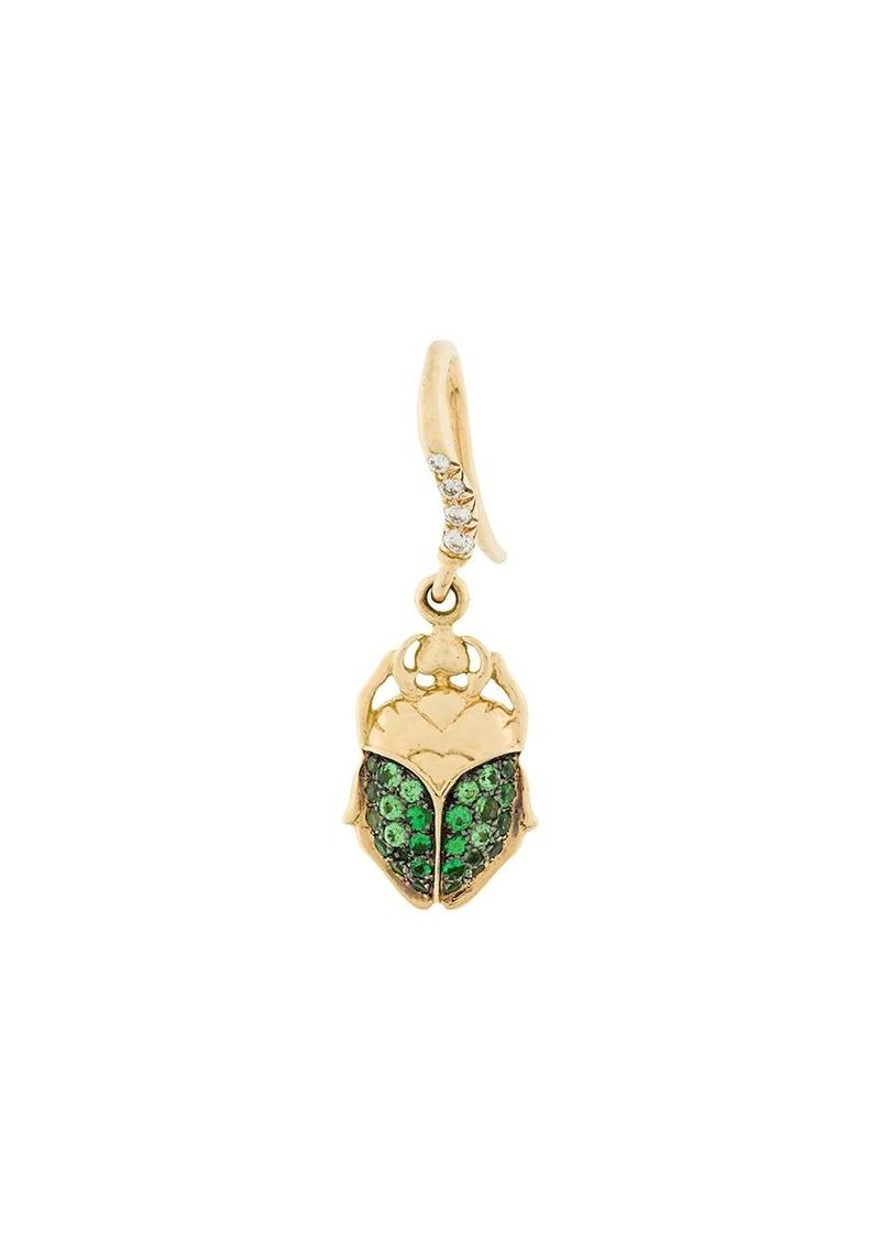 Aurelie Bidermann mini Scarab tsavorite and diamond earring