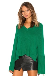 Autumn Cashmere Bell Sleeve V Neck Sweater