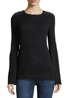 Autumn Cashmere Cashmere Bell-Sleeve Sweater