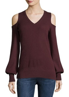 Autumn Cashmere Cashmere Cold-Shoulder Sweater