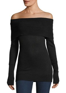 Autumn Cashmere Cashmere Off-the-Shoulder Sweater