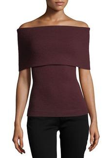 Autumn Cashmere Cashmere Off-the-Shoulder Sweater
