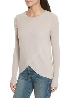 autumn cashmere Cashmere Reversible Surplice Sweater