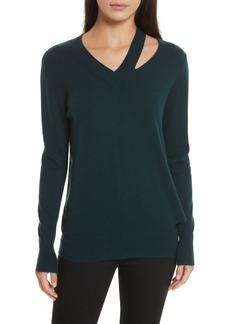 autumn cashmere Cashmere Slash Boyfriend Sweater