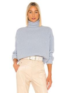 Autumn Cashmere Chunky Shaker Mock Neck Sweater