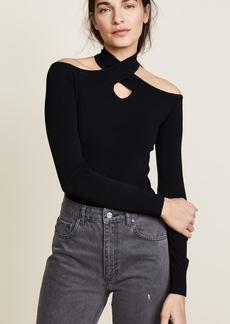 Autumn Cashmere Cold Shoulder Halter Neck Sweater