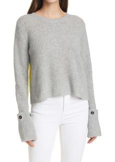 autumn cashmere Colorblock Cashmere Shaker Sweater