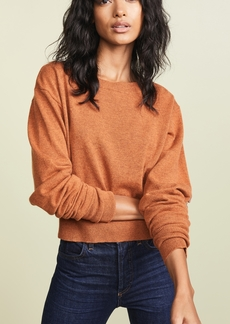 Autumn Cashmere Crop Boatneck Cashmere Sweater