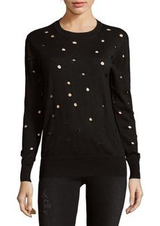 Autumn Cashmere Distressed Cotton Sweater