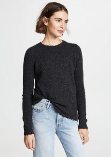 Autumn Cashmere Distressed Crew Cashmere Sweater