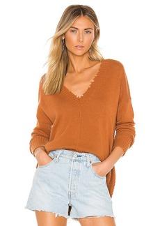 Autumn Cashmere Distressed Edge Sweater