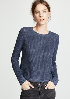 Autumn Cashmere Distressed Scallop Shaker Sweater