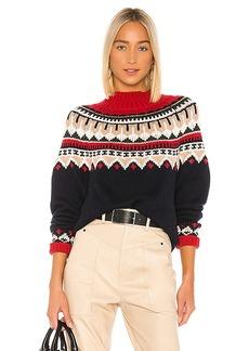 Autumn Cashmere Fair Isle Mock Sweater